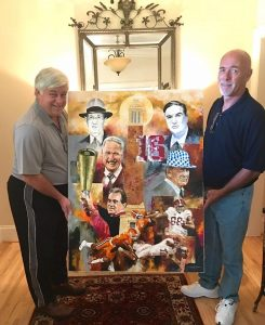 famous alabama football coaches painting sketch