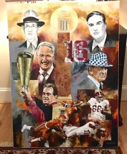 famous alabama football coaches painting
