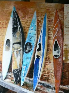 Kayakd Canoes drawing