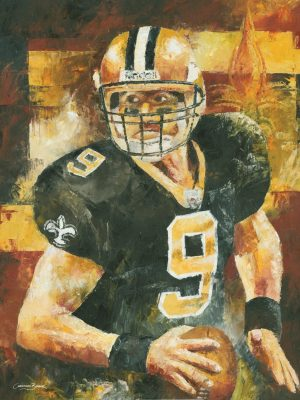drew brees darwing sketch