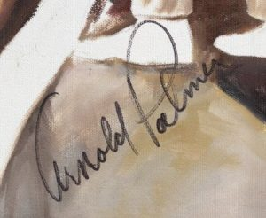 Arnold Palmer signature on painting