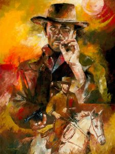 clint eastwood painting art for sale