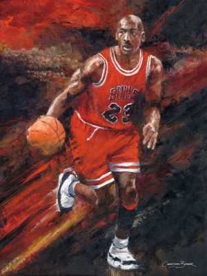 michael jordan basketball painting prints for sale