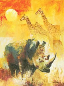 white rhino paintings