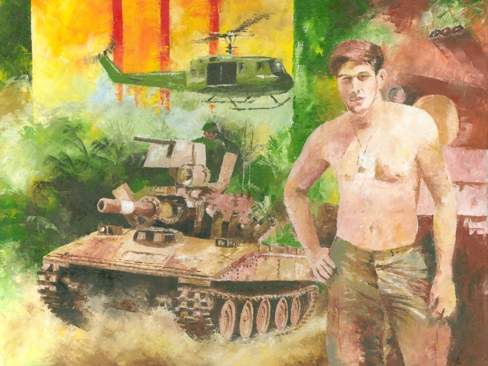 Vietnam Sheridan Tank Art