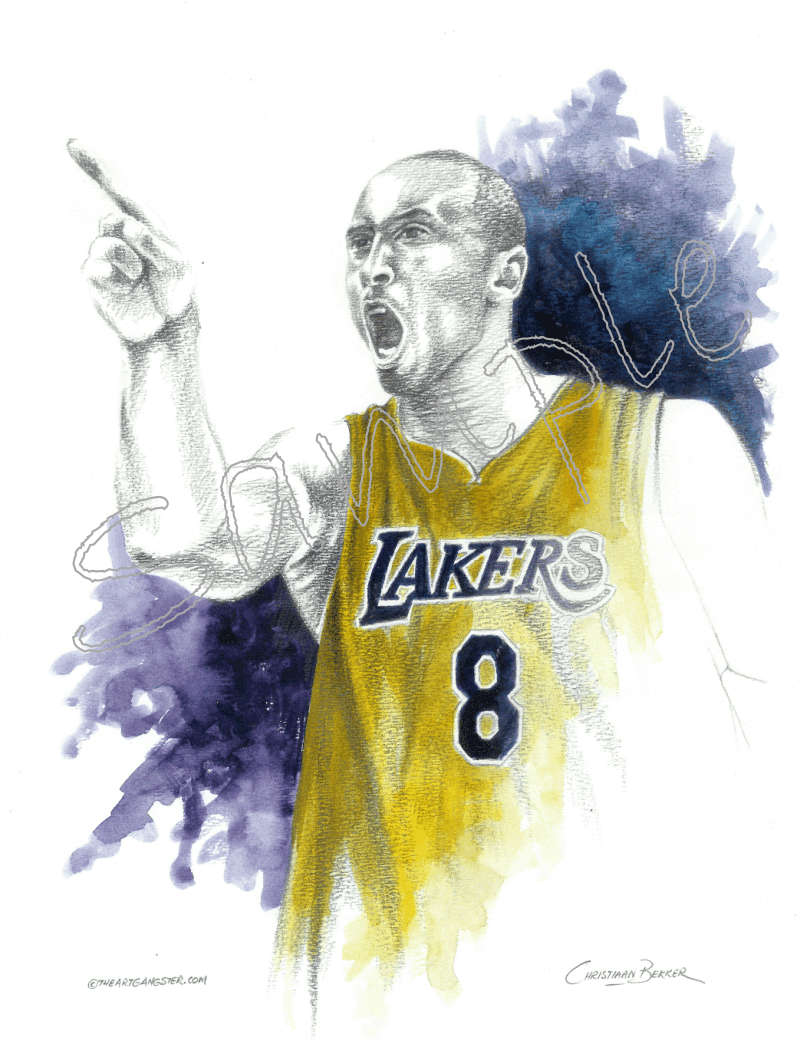 Kobe Bryant pencil sketch