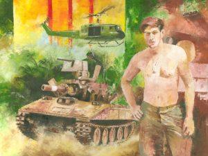 vietnam sheridan tank drawing sketch