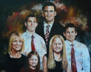 custom painted family portraits