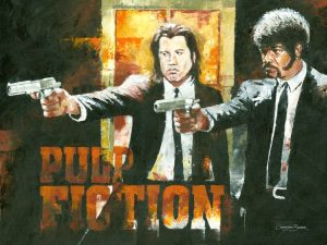 pulp fiction movie drawing art