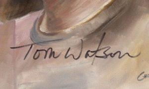 Tom Watson signature on painting