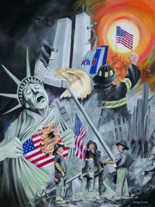 911 Twin Towers art print
