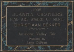 Christiaan Bekker Art Award