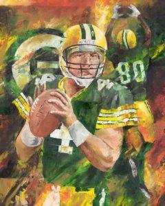 Brett Favre Art Print for sale