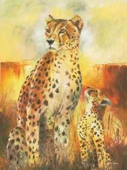 Cheetah Cub Art Prints Oil Painting
