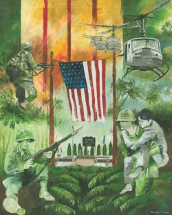 Vietnam War Veterans Tribute painting